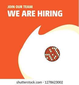 Join Our Team. Busienss Company Golfball  We Are Hiring Poster Callout Design. Vector background