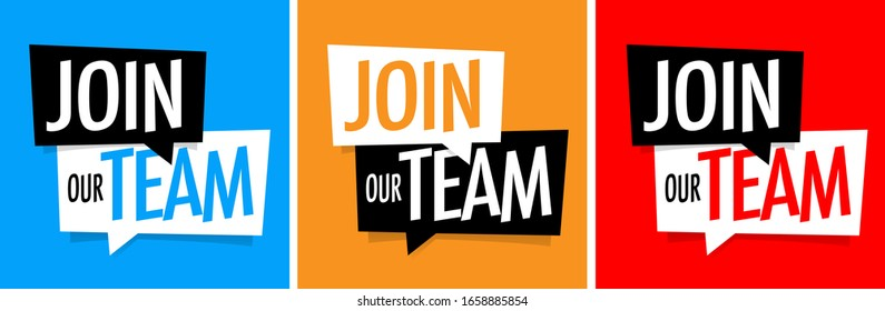 Join our team on speech bubble