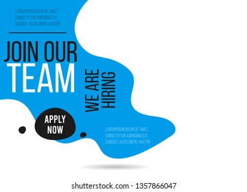 Join Our Team poster template. Job vacancy card design. Open recruitment creative Ad