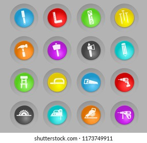 joinery colored plastic round buttons web icons for user interface design