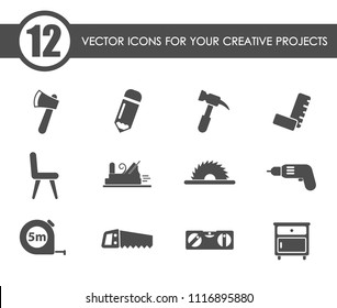 joinery vector icons for your creative ideas