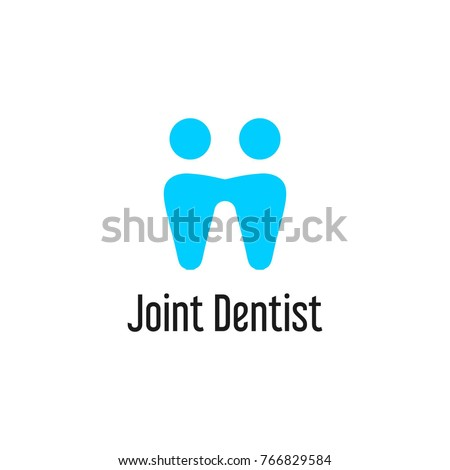Joint Dentist Logo Template Illustration Tooth Stock Vector Royalty