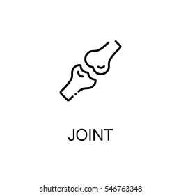 Joint flat icon. Single high quality outline symbol of human body for web design or mobile app. Thin line signs of joint for design logo, visit card, etc. Outline pictogram of joint