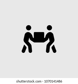 joint lifting of gravity icon. Elements of teamwork icon.