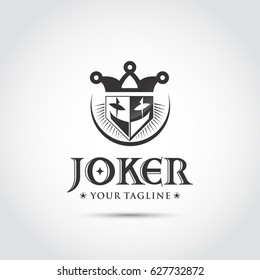 Joker Black Logo and Icon. Vector Illustrator Eps.10