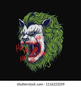 Joker Head Lion