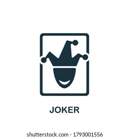 Joker icon. Simple element from casino collection. Creative Joker icon for web design, templates, infographics and more