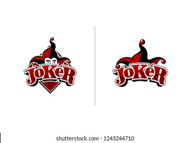 Joker logo design in two variatins