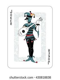 Joker. playing card.