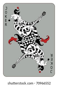 Joker playing card, isolated on white background