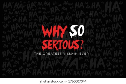Joker word art in black background