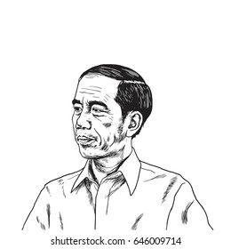 Jokowi Joko Widodo Portrait Drawing. May 24, 2017