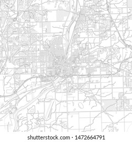 Joliet, Illinois, USA, bright outlined vector map with bigger and minor roads and steets created for infographic backgrounds.