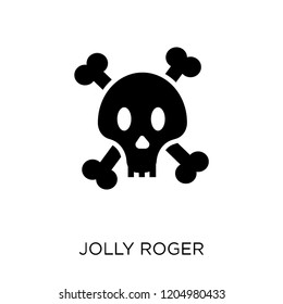 Jolly roger icon. Jolly roger symbol design from Fairy tale collection. Simple element vector illustration on white background.