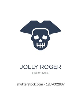 Jolly roger icon. Trendy flat vector Jolly roger icon on white background from Fairy Tale collection, vector illustration can be use for web and mobile, eps10