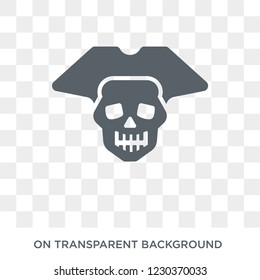 Jolly roger icon. Trendy flat vector Jolly roger icon on transparent background from Fairy Tale collection. High quality filled Jolly roger symbol use for web and mobile