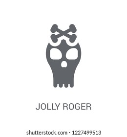 Jolly roger icon. Trendy Jolly roger logo concept on white background from Fairy Tale collection. Suitable for use on web apps, mobile apps and print media.