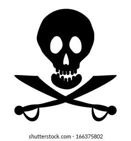 Jolly Roger icon. Vector illustration.