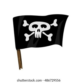 Jolly Roger. Pirate flag vector illustration isolated on white background.