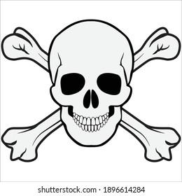 jolly roger skull and crossbones