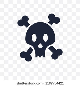 Jolly roger transparent icon. Jolly roger symbol design from Fairy tale collection. Simple element vector illustration on transparent background.