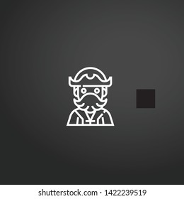 Jolly Roger vector icon. Jolly Roger concept stroke symbol design. Thin graphic elements vector illustration, outline pattern for your web site design, logo, UI. EPS 10.
