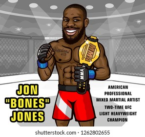 Jon JONES is an American professional mixed martial artist who is currently signed with the Ultimate Fighting Championship (UFC). He is a two-time UFC Light Heavyweight Champion.