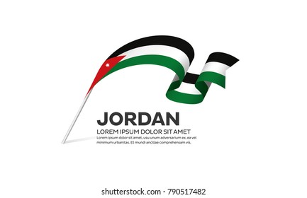 Jordan flag background