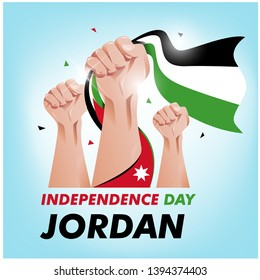 Jordan Independence day background vector. EPS 10