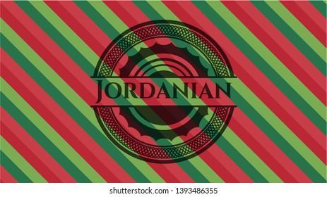 Jordanian christmas badge. Vector Illustration. Detailed.