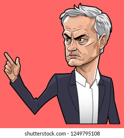 Jose Mourinho caricature vector with layers