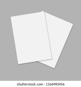 journal or magazine mockup with sheet of A4. Blank front template for brochure design.