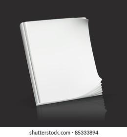 Journal on black, vector
