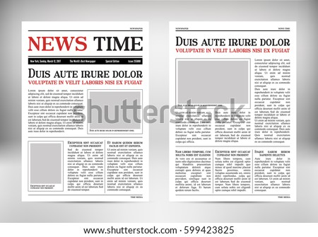 Journal Template Old Paper Tabloid On Stock Vector Royalty Free