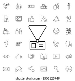 Journalist's tag nolan icon. Elements of media, press set. Simple icon for websites, web design, mobile app, info graphics