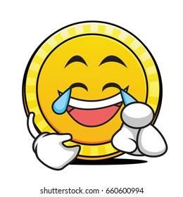 Joy coin cartoon caartoon character