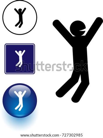 Joy Symbol Sign Button Stock Vektorgrafik Lizenzfrei 727302985