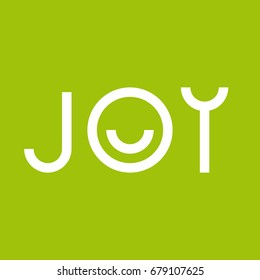 Joy vector logo. App icon