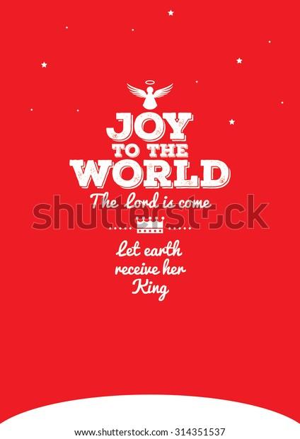 Joy World Typography Design Postcard Template Stock Vector Royalty Free 314351537