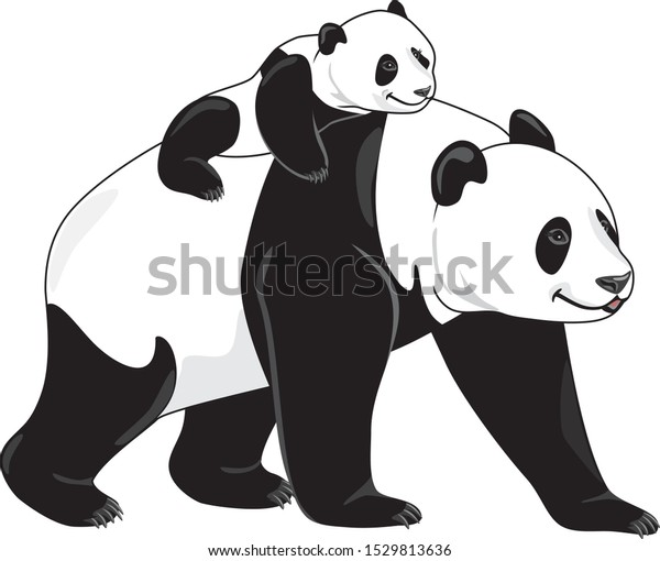 joyful-panda-mom-her-baby-600w-152981363