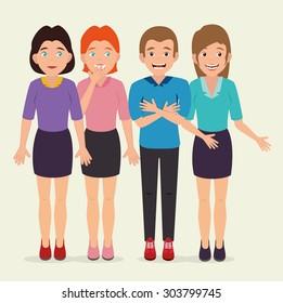 Joyful people design, vector illustration eps 10.