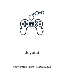 Joypad concept line icon. Linear Joypad concept outline symbol design. This simple element illustration can be used for web and mobile UI/UX.