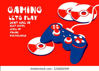joypad gaming illustration