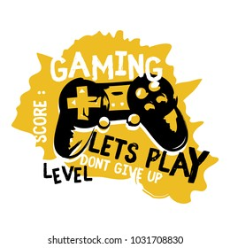 joypad gaming illustration vector t shirt printing, poster, banner, abstract design