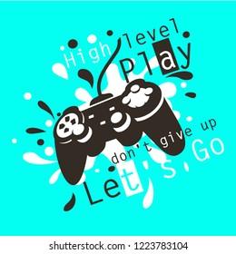 joypad gaming illustration vector t shirt printing, poster, banner, abstract design