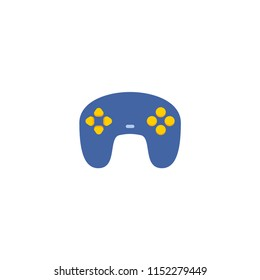 Joypad icon flat element. Vector illustration of joypad icon flat isolated on clean background for your web mobile app logo design.