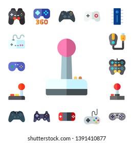joypad icon set. 17 flat joypad icons.  Collection Of - gamepad, joystick, game controller, games, controller