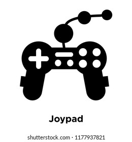 Joypad icon vector isolated on white background, logo concept of Joypad sign on transparent background, filled black symbol