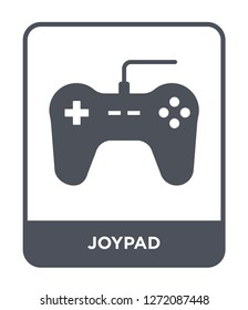 joypad icon vector on white background, joypad trendy filled icons from Electronic stuff fill collection, joypad simple element illustration
