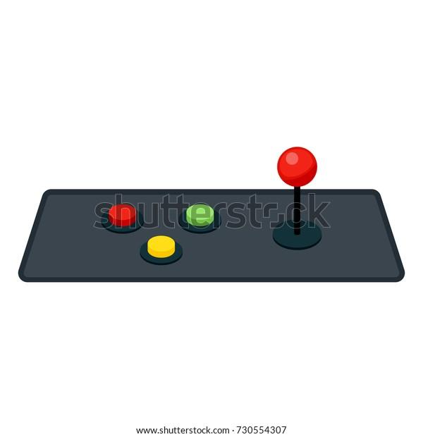 Joystick Buttons Retro Arcade Game Machine Stock Vector
